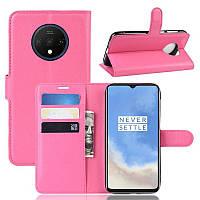 Чехол-книжка Litchie Wallet для OnePlus 7T Rose
