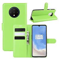 Чехол-книжка Litchie Wallet для OnePlus 7T Green