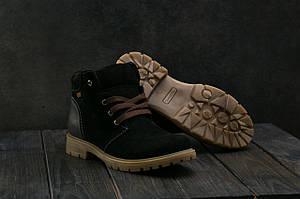 Подростковые ботинки замшевые зимние черные Braxton 397 z