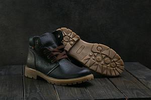 Подростковые ботинки кожаные зимние черные Braxton 397 f