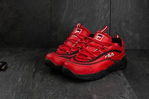 Мужские кроссовки искусственная кожа весна/осень красные Ditof A 116 -35