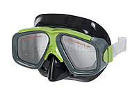 Intex 55975-green, маска для плавания, серо-зеленая, фото 1