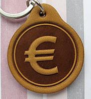 Брелок кожаный Евро Euro, фото 1