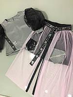 Костюм необыкновенный для девочки с юбкой сетка и кофточкой