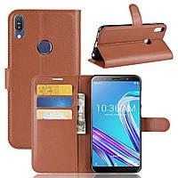 Чехол-книжка Litchie Wallet для Asus Zenfone Max Pro M1 ZB601KL / ZB602KL Brown