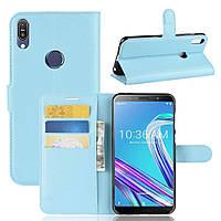 Чехол-книжка Litchie Wallet для Asus Zenfone Max Pro M1 ZB601KL / ZB602KL Blue