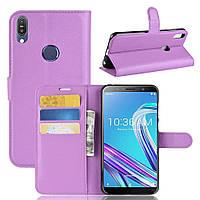 Чехол-книжка Litchie Wallet для Asus Zenfone Max Pro M1 ZB601KL / ZB602KL Violet
