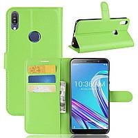 Чехол-книжка Litchie Wallet для Asus Zenfone Max Pro M1 ZB601KL / ZB602KL Green