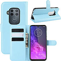 Чехол-книжка Litchie Wallet для Motorola One Zoom Blue