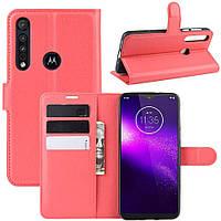 Чехол-книжка Litchie Wallet для Motorola One Macro / Moto G8 Play Red