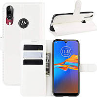 Чохол-книжка Litchie Wallet для Motorola Moto E6 Plus White