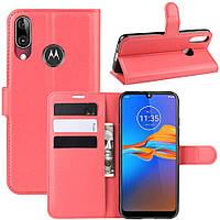Чохол-книжка Litchie Wallet для Motorola Moto E6 Plus Red