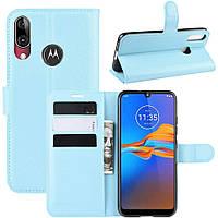 Чехол-книжка Litchie Wallet для Motorola Moto E6 Plus Blue