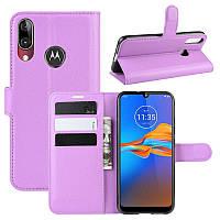 Чехол-книжка Litchie Wallet для Motorola Moto E6 Plus Violet