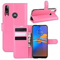 Чехол-книжка Litchie Wallet для Motorola Moto E6 Plus Rose