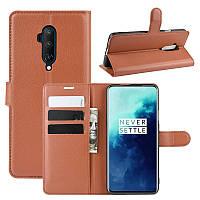 Чехол-книжка Litchie Wallet для OnePlus 7T Pro Brown