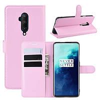 Чехол-книжка Litchie Wallet для OnePlus 7T Pro Pink