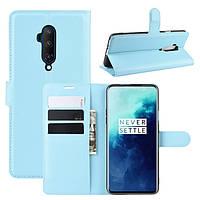 Чехол-книжка Litchie Wallet для OnePlus 7T Pro Blue