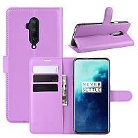 Чехол-книжка Litchie Wallet для OnePlus 7T Pro Violet