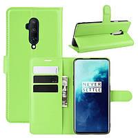 Чехол-книжка Litchie Wallet для OnePlus 7T Pro Green