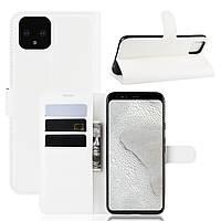 Чехол-книжка Litchie Wallet для Google Pixel 4 White