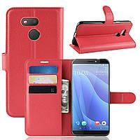 Чехол-книжка Litchie Wallet для HTC Desire 12s Red
