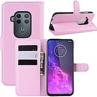 Чехол-книжка Litchie Wallet для Motorola One Zoom Pink