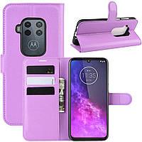 Чехол-книжка Litchie Wallet для Motorola One Zoom Violet