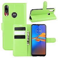 Чехол-книжка Litchie Wallet для Motorola Moto E6 Plus Green