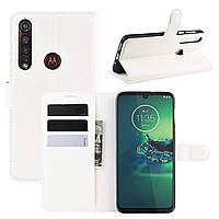 Чехол-книжка Litchie Wallet для Motorola Moto G8 Plus White