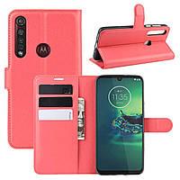 Чехол-книжка Litchie Wallet для Motorola Moto G8 Plus Red