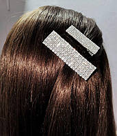 Заколка зажим для волос со Стразами 4,5см (цвет серебро), фото 1