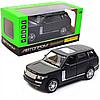 Машинка игровая автопром «Range Rover» джип, 14 см, черный, свет, звук, двери открываются (7860)