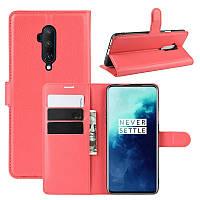 Чехол-книжка Litchie Wallet для OnePlus 7T Pro Red