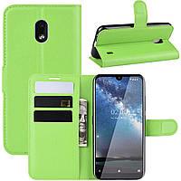 Чехол-книжка Litchie Wallet для Nokia 2.2 Green