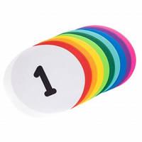 Плоский маркер для разметки (10шт) C-1409 (резина, d-30см, 10шт в уп., цена за упаковку, цвета в ассортименте)