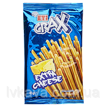 Крекер  ETi CRAX sticks Extra cheese , 45 гр