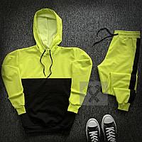 Спортивный костюм салатово-черный