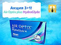 Акция 3+1 Контактные линзы Air Optix plus HydraGlyde