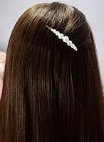 Заколка невидимка для волос с жемчугом 8,5см