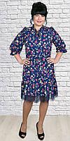 Яркое и стильное платье в цветочный принт.Разные цвета, фото 1