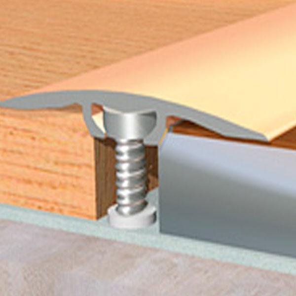 Порог для пола алюминиевый 40мм, 4см, 19А, скрытый монтаж, длина: 0,9м; 1,80м; 2,7м, ламинированные, крашеные.