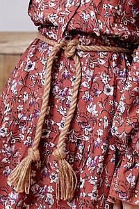 Пісочно-бежевий пояс плетінка (PS.51 svt)