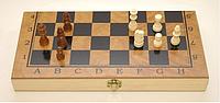 Шахматы 3 в 1 дерево (34,5 х 34,5 см)
