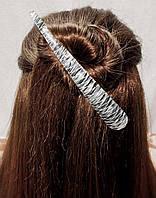 Заколка зажим для волос Металлик иллюзия 14см, фото 1