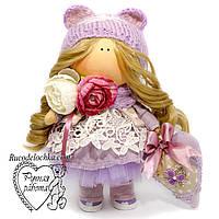 Кукла прованс, в сиреневом кукла тильда ручной работы, средняя, фото 1