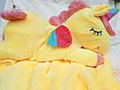 Іграшка-плед-подушка Єдиноріг 🦄 розмір іграшки 60х30, фото 3