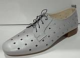Туфли летние женские из натуральной кожи с перфорацией от производителя модель КС2003-5, фото 3
