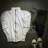 Спортивный костюм олимпийка + штаны белый