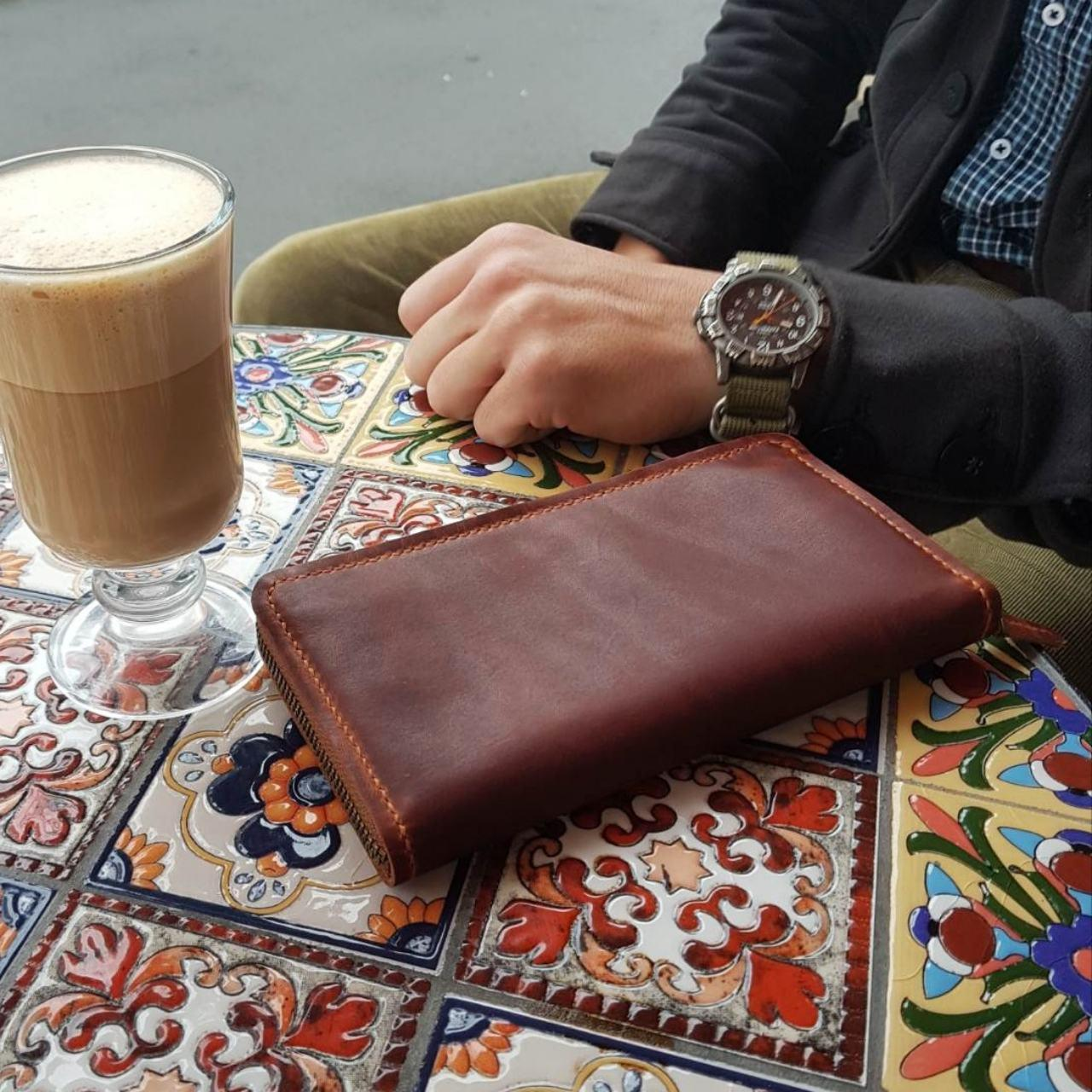 Кожаное портмоне, клатч Stedley